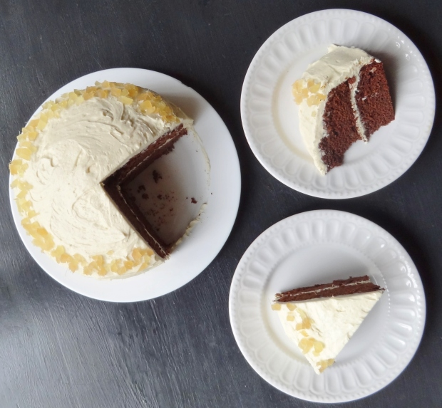 ginger chocolate fudge cake