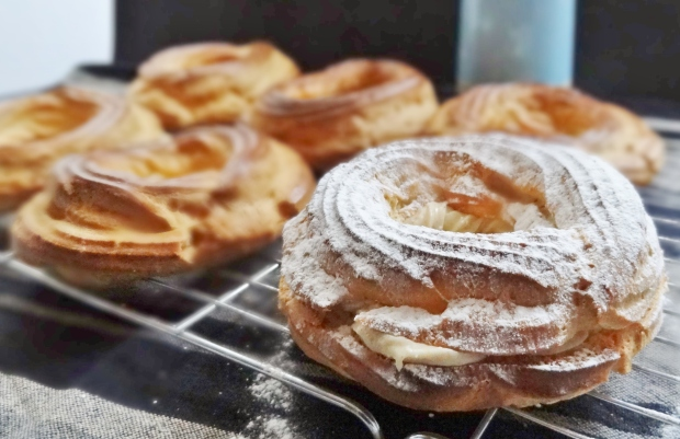 paris brest with praline creme legere