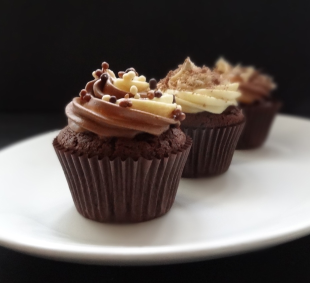 quadruple chocolate cupcakes