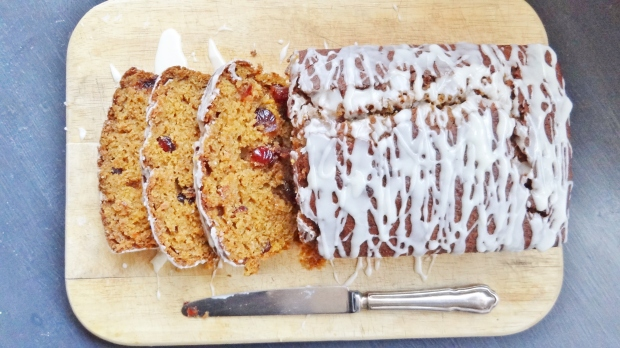 Cranberry pumpkin quickbread