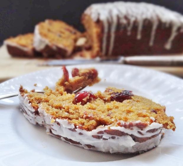 cranberry pumpkin tea bread